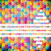 Abstract mosaic background made of colorful circles. Vector Illu — Vettoriale Stock