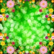 Floral background with bokeh defocused lights. — Stock Vector