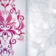 Abstract vector background with floral item. — Image vectorielle