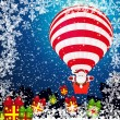 Christmas background white Santa Claus. — 图库矢量图片