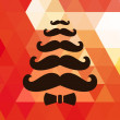 Christmas retro background with mustaches. Vector.  — Stock Vector
