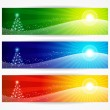 Abstract christmas banners for your design header. — Stock vektor