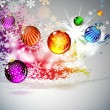 Background with flying Christmas balls. vector illustration — Image vectorielle