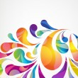 Abstract colorful arc-drop background. Vector. — Vecteur #35642493
