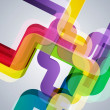 Abstract pipes background with vector design elements. — ストックベクタ