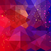 Abstract colorful triangle pattern background. Vector. — Stock Vector