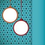 Speech bubble round frame on a polka dots background. — Vector de stock