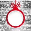 Christmas ball in the form of an empty frame for your text. — Stockvectorbeeld