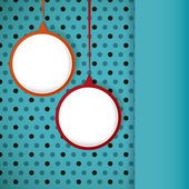 Speech bubble round frame on a polka dots background. — Vector de stock