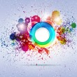 Abstract colorful background. Vector illustration. — Stok Vektör