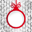 Christmas ball in the form of an empty frame for your text. — 图库矢量图片
