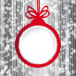 Christmas ball in the form of an empty frame for your text. — Stock Vector