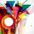Multicolor abstract bright background. Elements for design. Eps1 — Vettoriali Stock