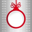 Christmas ball in the form of an empty frame for your text. — Stock Vector #35821731