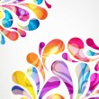 Abstract colorful arc-drop background. Vector. — Vecteur #35822221