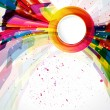 Multicolor abstract bright background. Elements for design. Eps1 — ベクター素材ストック