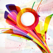 Multicolor abstract bright background. Elements for design. — Imagen vectorial