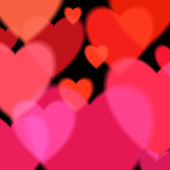 Valentine's day background with hearts. — Stock Vector