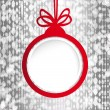 Christmas ball in the form of an empty frame for your text. — Векторная иллюстрация