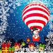 Christmas background with Snowman. — Stock Vector