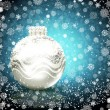Background with Christmas ball. vector illustration — Vettoriali Stock