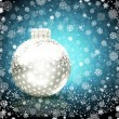 Background with Christmas ball. vector illustration — Stok Vektör
