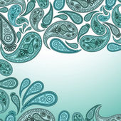 Paisley Oriental decor background. Vector illustration. — Vector de stock