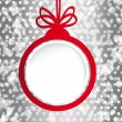 Christmas ball in the form of an empty frame for your text. — Imagens vectoriais em stock