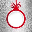 Christmas ball in the form of an empty frame for your text. — Imagen vectorial