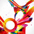 Multicolor abstract bright background. Elements for design. Eps1 — 图库矢量图片