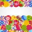 Background with floral and ornamental circles. — Stock Vector