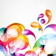 Abstract colorful arc-drop background. Vector.  — Image vectorielle