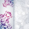 Abstract vector background with floral item. — Stockvectorbeeld