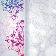 Abstract vector background with floral item. — Imagen vectorial