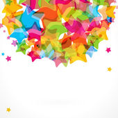 Colorful star background. — Vettoriale Stock