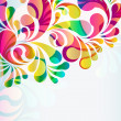 Abstract colorful arc-drop background. Vector. — Vector de stock