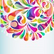 Abstract colorful arc-drop background. Vector. — Vecteur