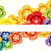 Gift floral design background. — Stock Vector