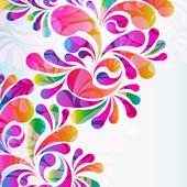 Abstract colorful arc-drop background. Vector. — Stock Vector