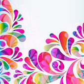 Abstract colorful arc-drop background. Vector. — Stok Vektör