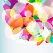 Abstract colorful  background made of transparent elements. Vect — Vector de stock