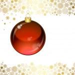 Christmas transparent ball — Stock Vector #5538364