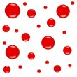 Red blobs — Image vectorielle