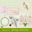 spring collection — Stock Vector