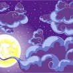 Night sky — Stock Vector