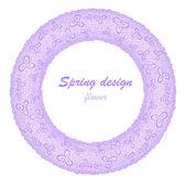 Lilac flower garland — Stock Vector