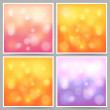 Stock Vector: Bokeh lights