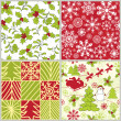 Stock Vector: Christmas patterns collection