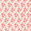 Shabby chic rose pattern - Image vectorielle