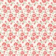 Shabby chic rose pattern — Stockvectorbeeld